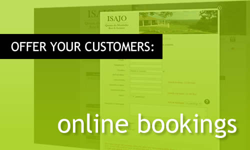 Your clients can book online themselves.